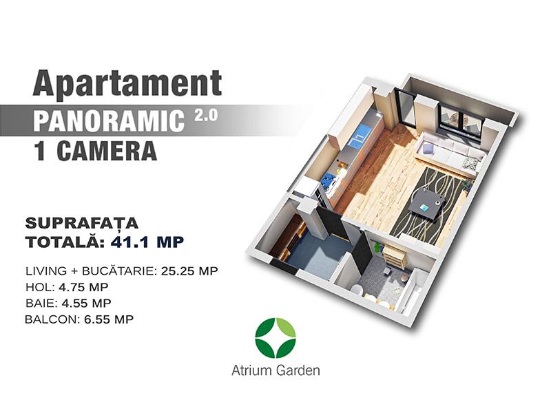 "Apartament ""Panoramic"" - 1 camera"