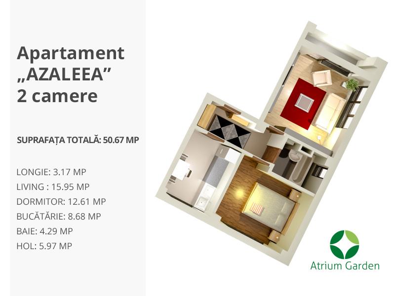"""Apartament """"AZALEEA""""- 2 camere"""
